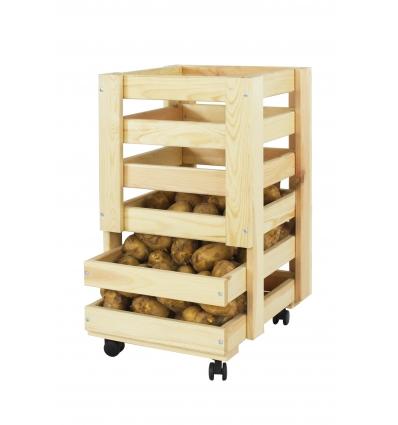 Skrzynia drewniana RZ-02 pojemnik na warzywa